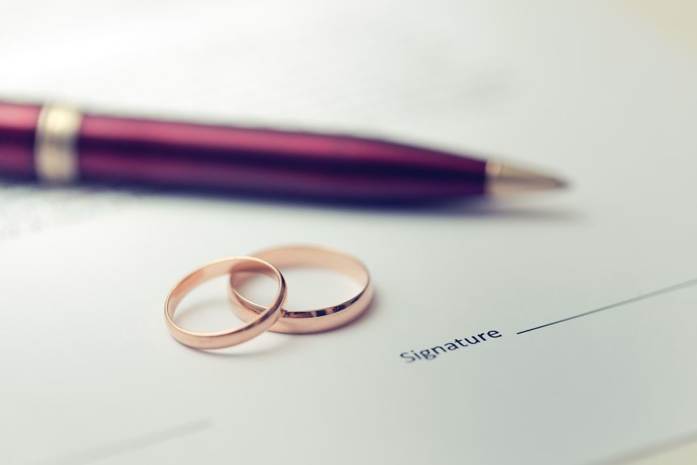 Legal Service Pre-Nuptial and Post-Nuptial Agreements_Wedding rings and ped_1000x667_C